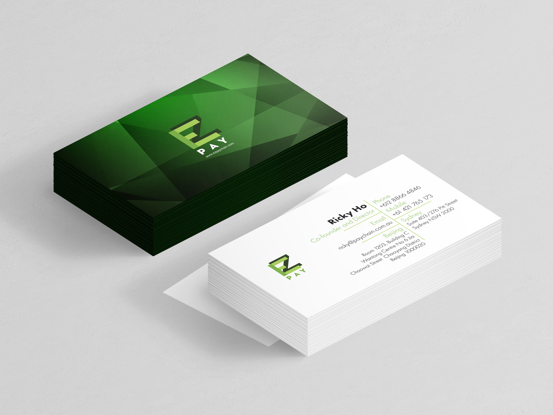 Mocca Design | EZ Pay Business Card